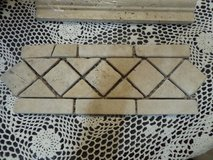 "Travertine mocha marble tile 5"" x 12"" mesh backed mosaic in Alamogordo, New Mexico"