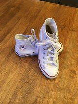 Converse All Stars- white size 2Y in Lockport, Illinois