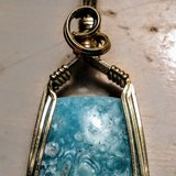 Beautiful Hand wire wrapped stone pendant estate piece in Bolingbrook, Illinois