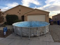 18 ft steel frame pool w/ saltwater pump and vacuum in Alamogordo, New Mexico