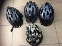 adult bicycle helmets, like new, why pay triple in Okinawa, Japan