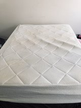 Kaymed Memory Foam with Gel Inlay - Queen size mattress, box spring, frame, 1 set sheets and bed... in Quantico, Virginia