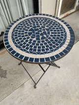 Folding Outdoor mosaic table in Okinawa, Japan