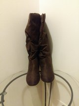 Brown Knee-High Slouch Boots Size 10 (NEW) in Bartlett, Illinois