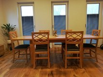 Dining table with glass cabinet, 6 chairs and coffee table in Spangdahlem, Germany