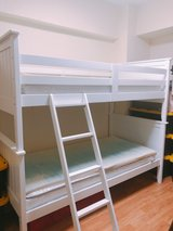 White Twin Bunk Beds in Okinawa, Japan