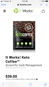 It works keto coffee in Spring, Texas