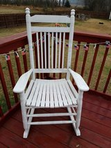 White rocking chair in Fort Campbell, Kentucky