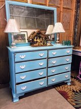 antique chalk painted dresser with mirror in Cherry Point, North Carolina