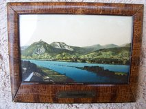 Framed Souvenior Picture (circa. 1925) of Siebengebirge, Germany in Wiesbaden, GE