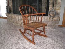 Vintage and Antique Child or Doll Wooden Rocking Chair in Chicago, Illinois