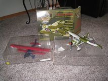 2 Die Cast Air Plane Banks with Display Cases in Glendale Heights, Illinois