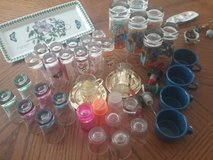 Misc.Shot Glasses/Cups/Mugs  Tray & blue cups sold in Alamogordo, New Mexico