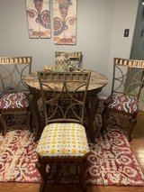 Dining Room Set Gold Tone Wrought Iron & Marble in Spring, Texas