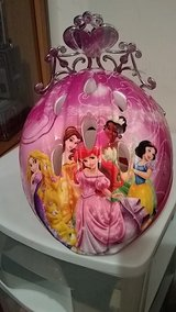 child's Disney Princess bicycle helmet with attached tiara in Byron, Georgia