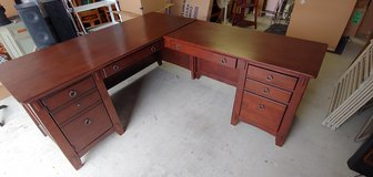 Executive L - Shape Desk Solid Wood with Office Chair in Fort Hood, Texas