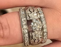Womens 14K White Gold Diamond Wedding Set in Baytown, Texas