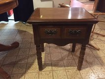 Wood End Table or Night Stand with Drawer in Chicago, Illinois