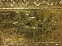 Brass covered small chest in Joliet, Illinois
