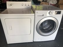 Newer Kenmore frontload washer and gas dryer in Oceanside, California