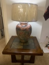 SIDE TABLE WITH LAMP BRAND NEW in Fort Sam Houston, Texas
