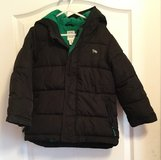 Toddler Boys Black & Green Long Sleeve Hooded Puffer Winter Jacket size 5T/5A in Byron, Georgia