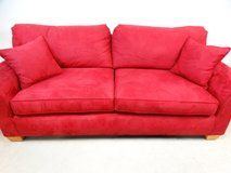 Red Velvet Couch in Houston, Texas
