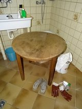 old table, old chair in Baumholder, GE