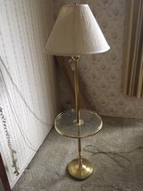 *~* Gold Metal Lamp with Glass Table *~* in Fort Lewis, Washington