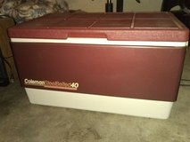 Rare Burgundy Vintage Coleman SteelBelted 40 Cooler in Byron, Georgia