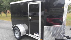 NEW! 6' X 12' Cargo Trailer - V nose - Rear Ramp in Fort Campbell, Kentucky