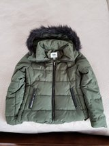 Old Navy Coat, Emerald Green w/ Black Fur and Trim in Okinawa, Japan