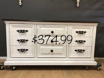Farmhouse Buffet Entertainment Center Dresser white in Fort Leonard Wood, Missouri