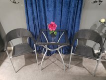 Small Black Table w/ 2 Chairs in Clarksville, Tennessee