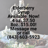 Elderberry Syrup 8oz & 4oz in Beaufort, South Carolina