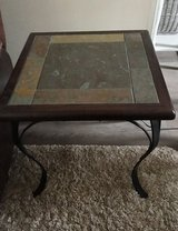 High end solid wood and iron slate table in Joliet, Illinois