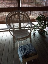 Wicker chair/foot rest in Lackland AFB, Texas
