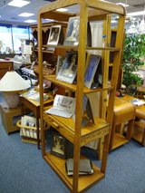 Oak Shelf Unit with one drawer in Glendale Heights, Illinois