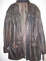 Real Leather Duffle Used Look XL/XXL in Ramstein, Germany