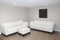 sofa sleeper and sofa set- white tufted in Houston, Texas