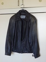 Real Cowhide Lather Jacket - Used in Okinawa, Japan