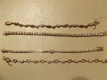 Goldtone Tennis Bracelets-new in Bellaire, Texas