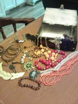 Vintage Jewelry in Wood Box in 29 Palms, California