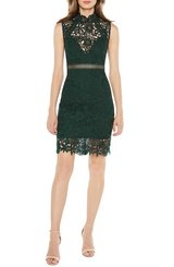 bardot paris lace cocktail party dress size xs forest green in Oswego, Illinois