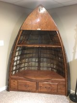 Antique boat shelving unit in Bolingbrook, Illinois