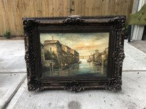 Large ornately framed painting. in The Woodlands, Texas