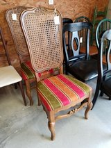 French Style Fabric Seat-Cane Back Chair #1941-8 in Camp Lejeune, North Carolina
