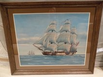 Framed Sailing Ship Poster in Bolingbrook, Illinois