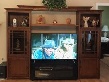 Entertainment Center - solid wood in Kingwood, Texas
