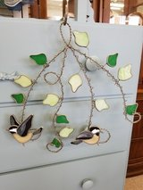 Stained Glass Birds & Leaves Hanging #1148-333 in Camp Lejeune, North Carolina